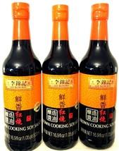 Lee Kum Kee Brown Cooking Soy Sauce 16.9 oz ( Pack of 3 ) - $29.69
