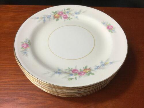 "10 Georgian Eggshell Cashmere Bread Plates 6"" Homer Laughlin"