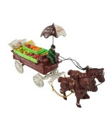 Vintage UCGC Cast Iron Vegetable And Fruit Wagon Umbrella Stored In Original Box - $149.99
