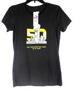 NFL Super Bowl 50 women's team apparel official t shirt black size S - $9.41