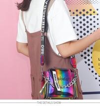 Korean style colorful laser broadband bucket bag - $2.58