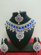 Indian Bollywood New Bridal Fashion Necklace Earrings Costume Jewellery Set - $37.22