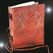 Haunted 27X LUCK MAGNIFIER JOURNAL HIGH MAGICK LEATHER BOUND WITCH CASSIA4 - $21.00