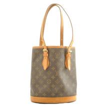 LOUIS VUITTON Monogram Bucket PM Shoulder Bag M42238 11189 Screw Broken - $197.73
