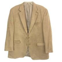 CHAPS Men's 52 XL Faux Suede Blazer Jacket Sport Coat Camel Tan Ralph Lauren - $14.85