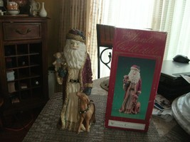 20#13    Windsor Collection Santa Collectible holding teddy bear & baby ... - $24.74