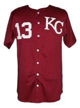 Derek Jeter #13 Kalamazoo Central Baseball Jersey Button Down Maroon Any Size image 3