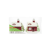 Darice Christmas Cabin Ornaments: 4.02 inches, 2 pieces w - $15.99