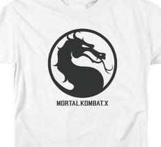 Mortal Combat X logo symbol graphic white adult t-shirt WBM416 image 2