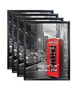 PETAFLOP 18x24 Poster Frame with Plexiglass Front Black Picture Frames f... - $60.68