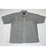 Address Unknown Size XL Gray Black Patterned Short Sleeve Shirt - $8.99