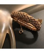 Belfont Hidden Watch Diamond Sapphire Bracelet Wind Up Mechanical 60s Pe... - $125.00