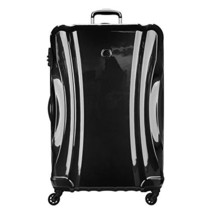 Delsey Luggage Passenger Lite Large Checked Spinner Suitcase, Black - $168.68