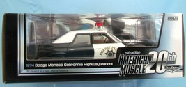 American Muscle Ertl Elite Edition 1974 Dodge Monaco California Highway ... - $122.27