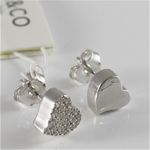 EARRINGS SILVER 925 JACK&CO WITH HEART LOVE WITH ZIRCON CUBIC JCE0454 image 2