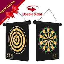 "Long game 15"" 2-Sided Magnetic Dart Board Sets with 6 Safety Darts for K... - $26.51"