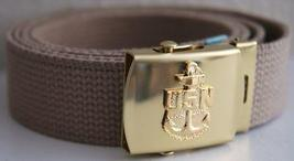 US Navy Khaki Belt & Buckle  - $14.99