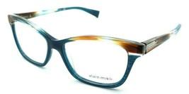 Alain Mikli Rx Eyeglasses Frames A03037 004 53-15-140 Paint Brown Turquoise Dot - $152.68