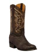 Mens Brown Western Boots Crocodile Hornback Skin Real Leather Cowboy J Toe - €236,23 EUR