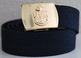 US Navy Blue Belt & Buckle  - $14.99
