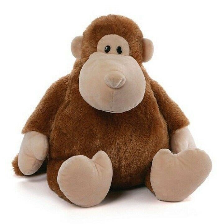"Primary image for Large Gund Stuffed Animal Big Bellee Monkey huggable 19"" brown soft ape gorilla"