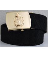 US Navy Black Belt & Buckle  - $14.99