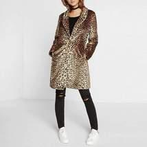 Faux Fur Leopard Fur Long Coat For Women - $62.69