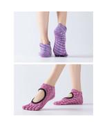 Reallion Women Backless Non-Slip Cotton Massage Sport Yoga Socks - $11.26