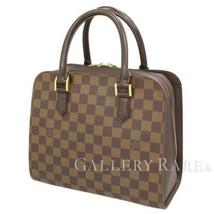 LOUIS VUITTON Triana Damier Canvas Ebene N51155 Handbag France Authentic... - $718.34
