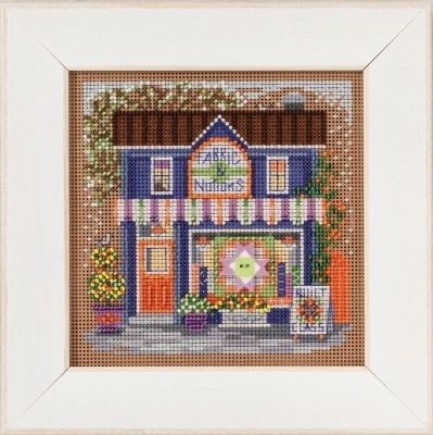Primary image for Fabric Shoppe 2017 Spring Series  Buttons and Beads cross stitch Mill Hill