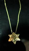 """Oro Collana. 14K Giallo Fatto a Mano Stella di David """" Magen """" - $385.52"""