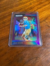 2019 Panini Prizm Football Draft Picks Josh Rosen Purple Refractor Dolphins - $0.95
