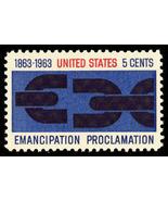 1963 5c Emancipation Scott 1233 Mint F/VF NH - $18,71 MXN
