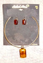Vintage Topez Necklace & earring Set by Rachael Rose - $15.50