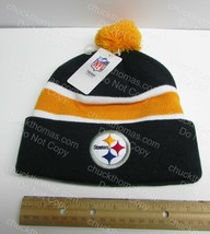 Pittsburgh STEELERS Black and Gold Kids Size Tossle Knit Hat NEW w Tag - $13.95