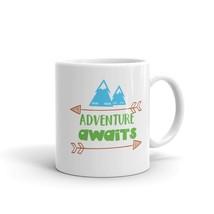 New Mug - Adventure Awaits Namaste Mountains Camping Hiking Outdoors - £8.52 GBP+
