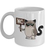 Funny Grumpy Cat Coffee Mug - Rude Cats Travel Ceramic Cup for Birthdays... - $14.95+