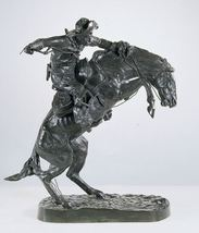 """53""""H Bronco Buster Lost Wax Bronze Collectible Sculpture Statue by F. Remington  - $6,500.00"""