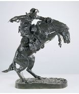 """53""""H Bronco Buster Lost Wax Bronze Collectible Sculpture Statue by F. Re... - $6,500.00"""