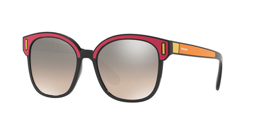 Prada 0PR 05US SVS4P0 BLACK/FUXIA/YELLOW Sunglasses Authentic