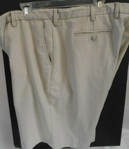 GREG NORMAN SIZE 42 BEIGE CHECKERED 100% POLY GOLF CASUAL SHORTS  - $14.99