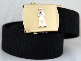 US Navy Sailor Emblem Black Belt and Buckle  - $14.99