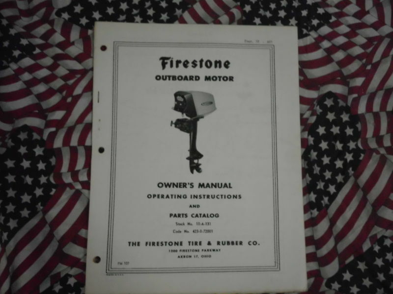 Primary image for Firestone 7.5 hp Outboard Owner Teil Betriebssystem Manuell