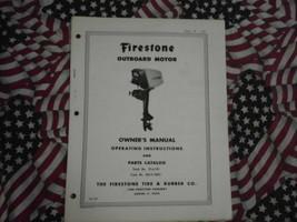 Firestone 7.5 hp Outboard Owner Teil Betriebssystem Manuell - $24.74
