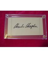 CHARLES CHAPLIN Autographed Signed Signature Cut w/COA - 30608 - $395.00