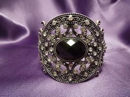 Iman Designer Rhinestone Hinged Cuff Bracelet - $31.19