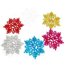6Pcs/Bag Christmas Holiday Party Snowflake Xmas Festival Ornament Decora... - €2,61 EUR