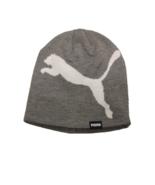 Puma Unisex Gray/White Cat Beanie - $12.38