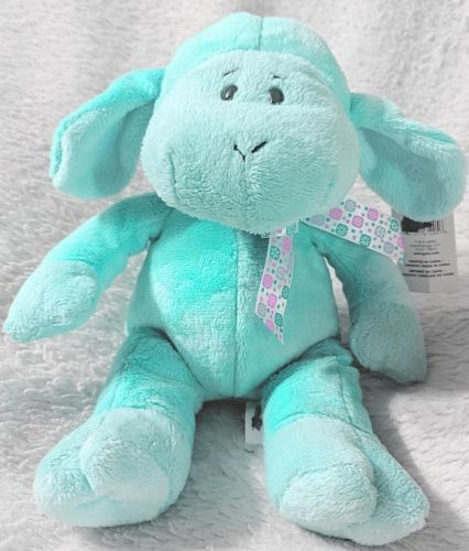 GANZ HE9835 Polyester Fiber 11 Inch Blue Tie Dye Lambie With A Satin Bow