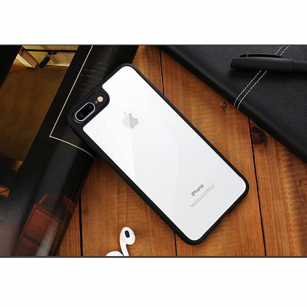 Apple iPhone X 7 Shockproof Clear Ultra Thin Hard Hybrid Bumper Back Case Cover image 8
